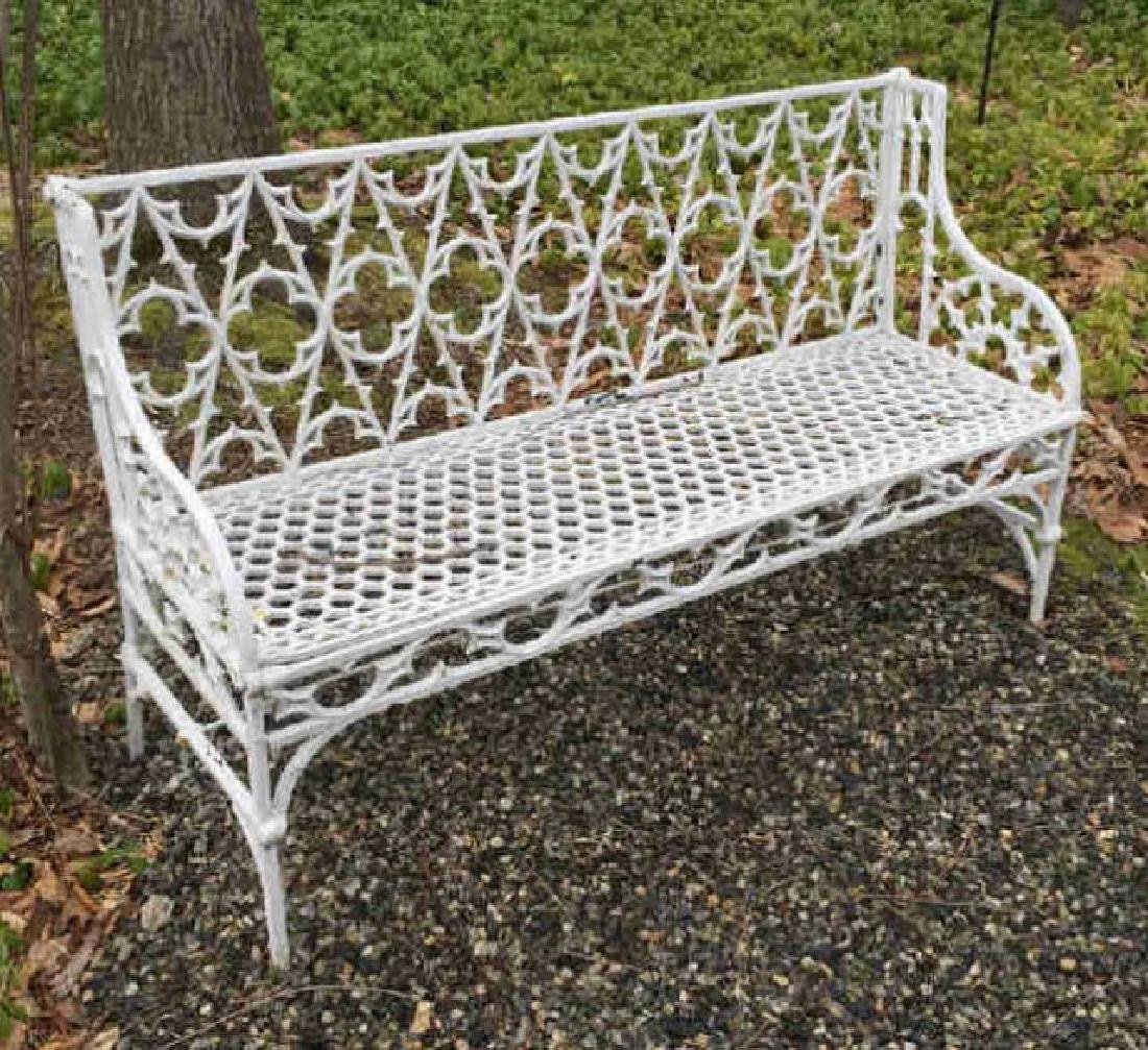 Antique Cast Iron Gothic Revival Settee / Bench