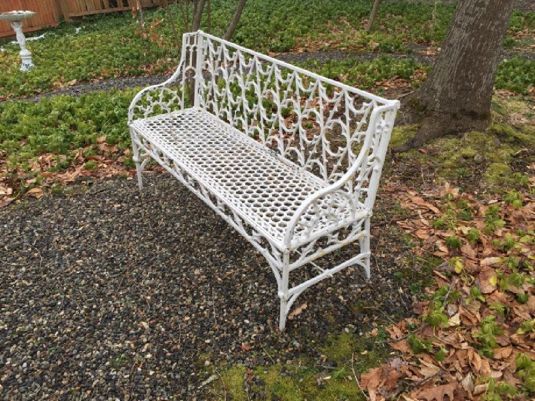 Antique Cast Iron Gothic Revival Settee / Bench - 2