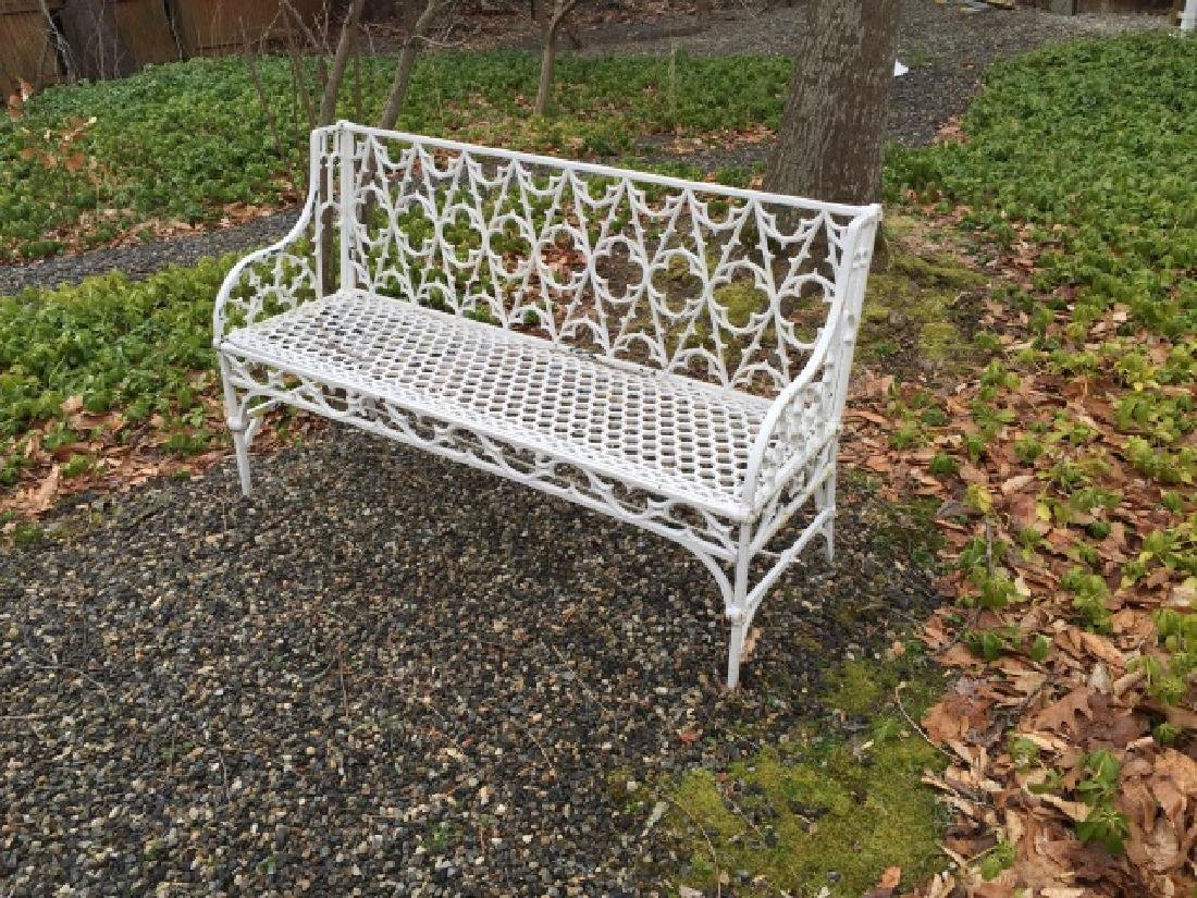 Antique Cast Iron Gothic Revival Settee / Bench - 3