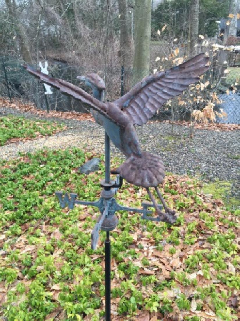 Vintage Weathervane on Stand of a Flying Crane - 3