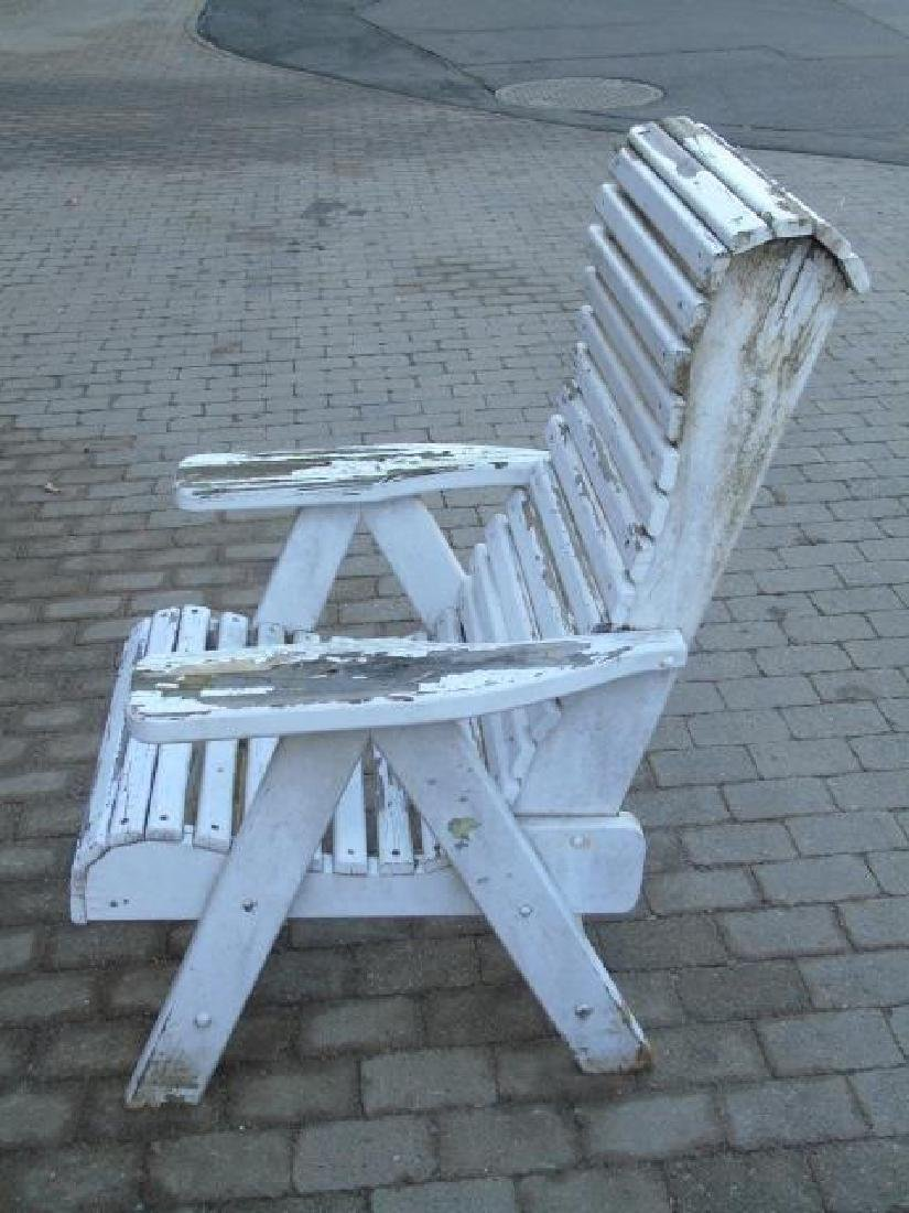 2 Adult 1 Child Wooden Adirondack Chairs 1 Stool - 2