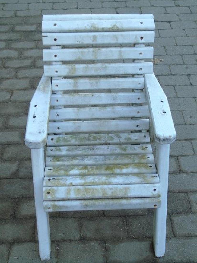 2 Adult 1 Child Wooden Adirondack Chairs 1 Stool - 3
