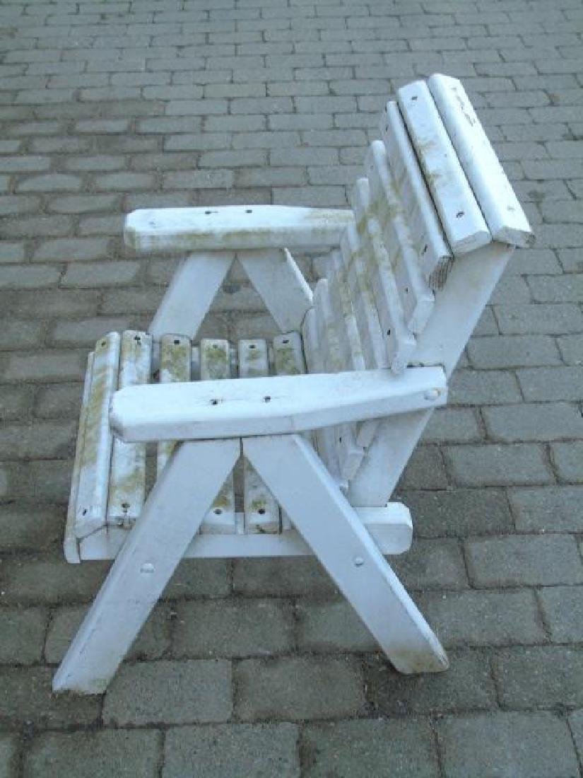 2 Adult 1 Child Wooden Adirondack Chairs 1 Stool - 4