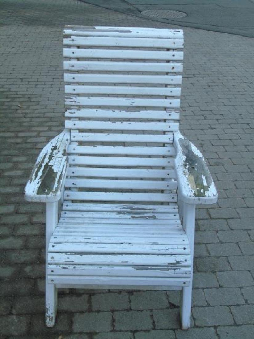 2 Adult 1 Child Wooden Adirondack Chairs 1 Stool - 7