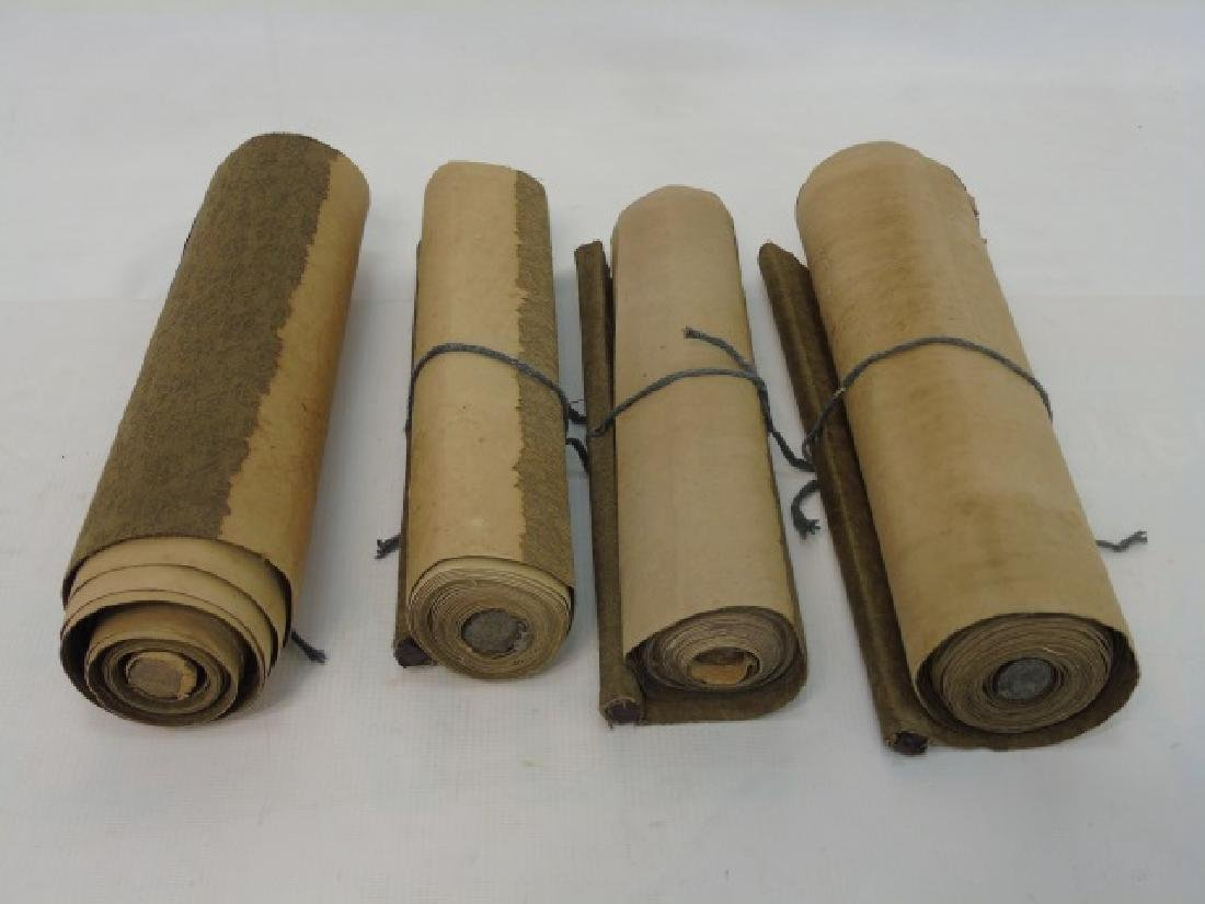 Four Antique Chinese Scrolls w/ Landscape Scenes - 3