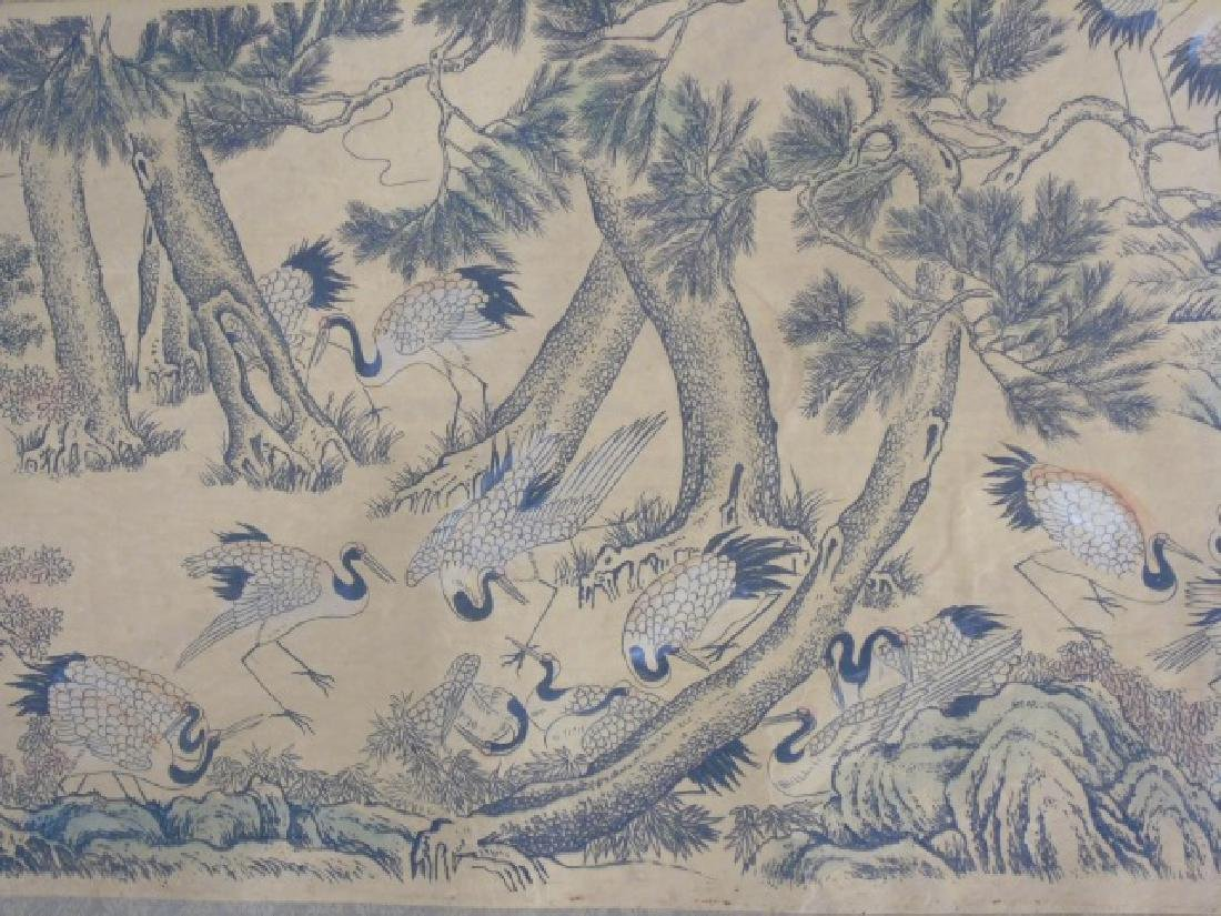 Three Antique Chinese Scrolls w Scenes of Animals - 5