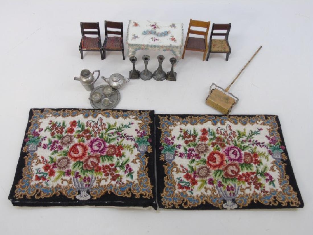 Antique Dollhouse Miniature Furniture & Objects