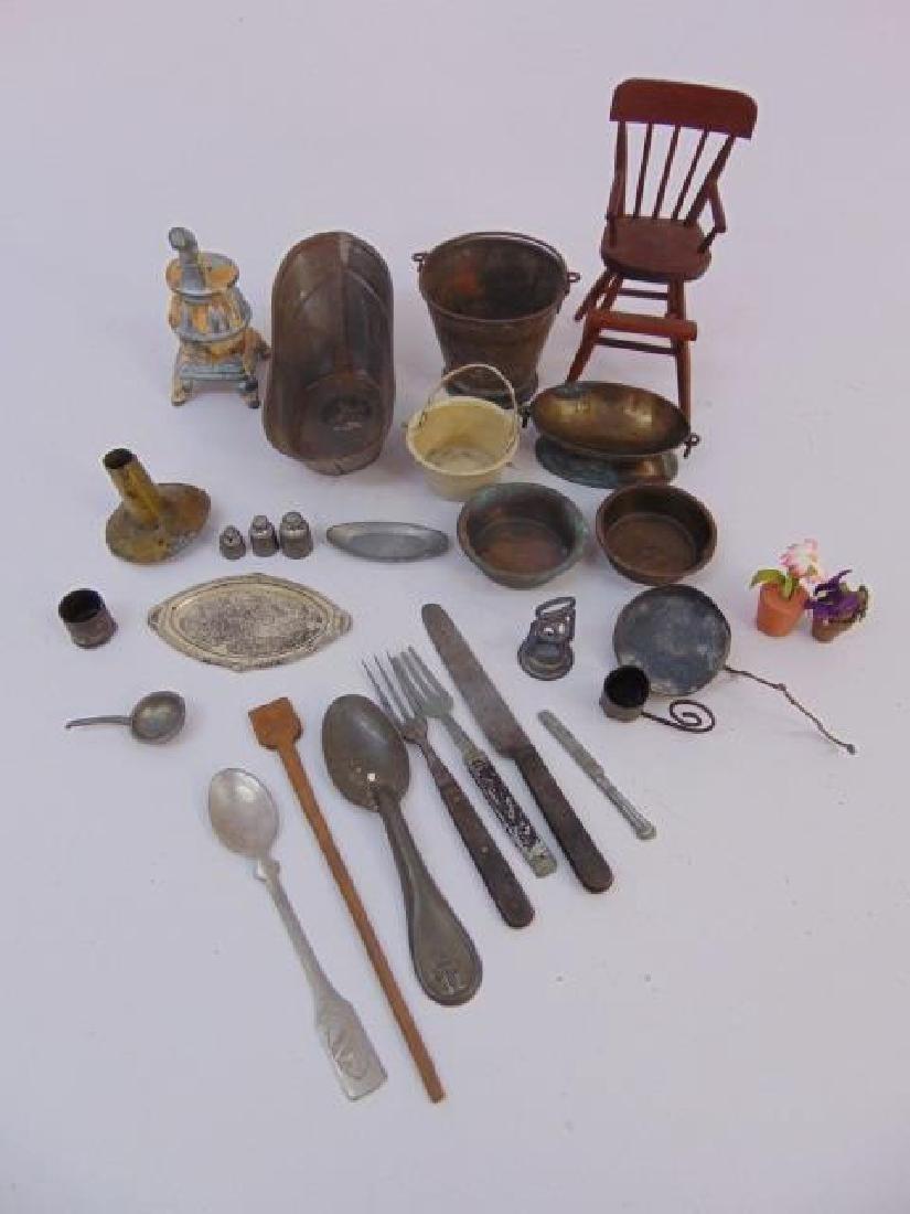 Antique 19th & 20 C Dollhouse Miniature Kitchen