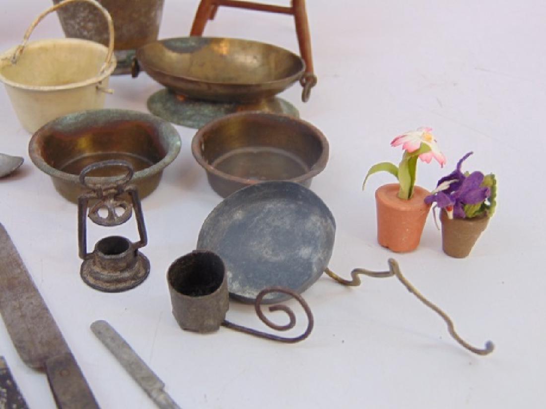 Antique 19th & 20 C Dollhouse Miniature Kitchen - 5
