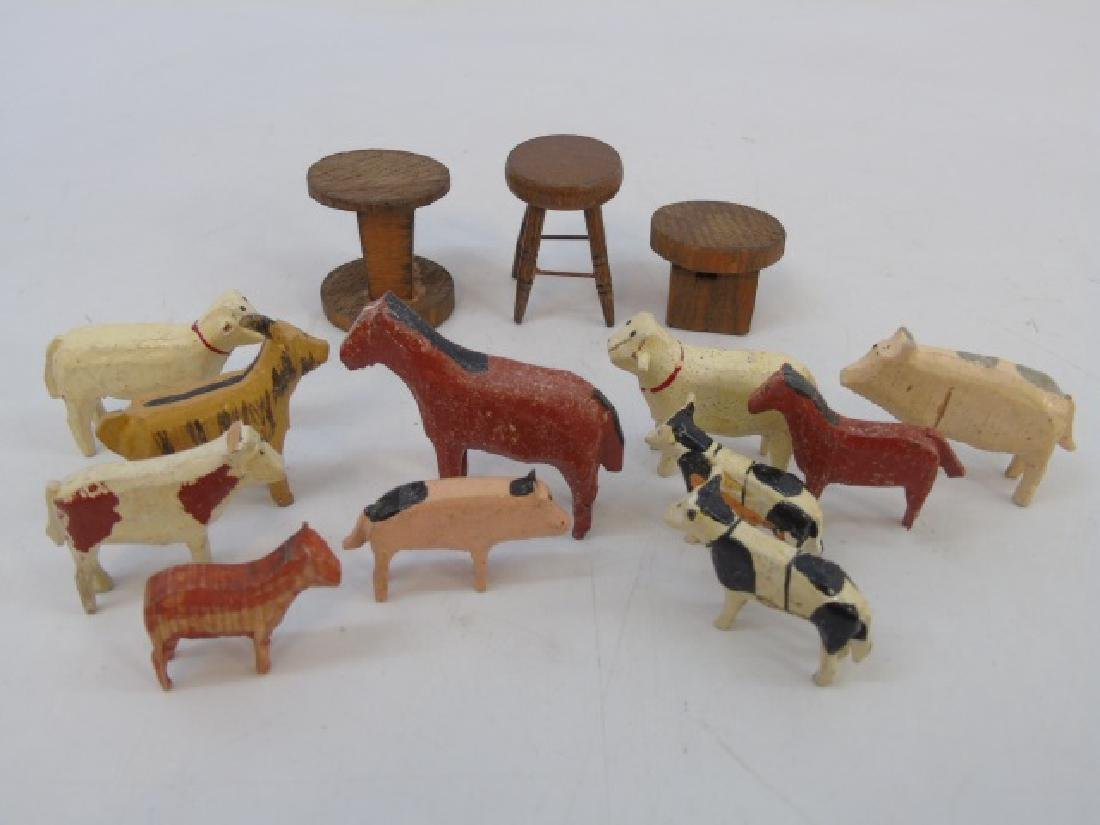 Antique German Noahs Ark Hand Carved Animals