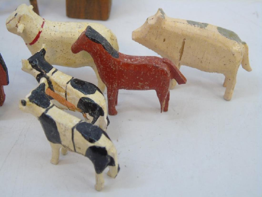 Antique German Noahs Ark Hand Carved Animals - 2