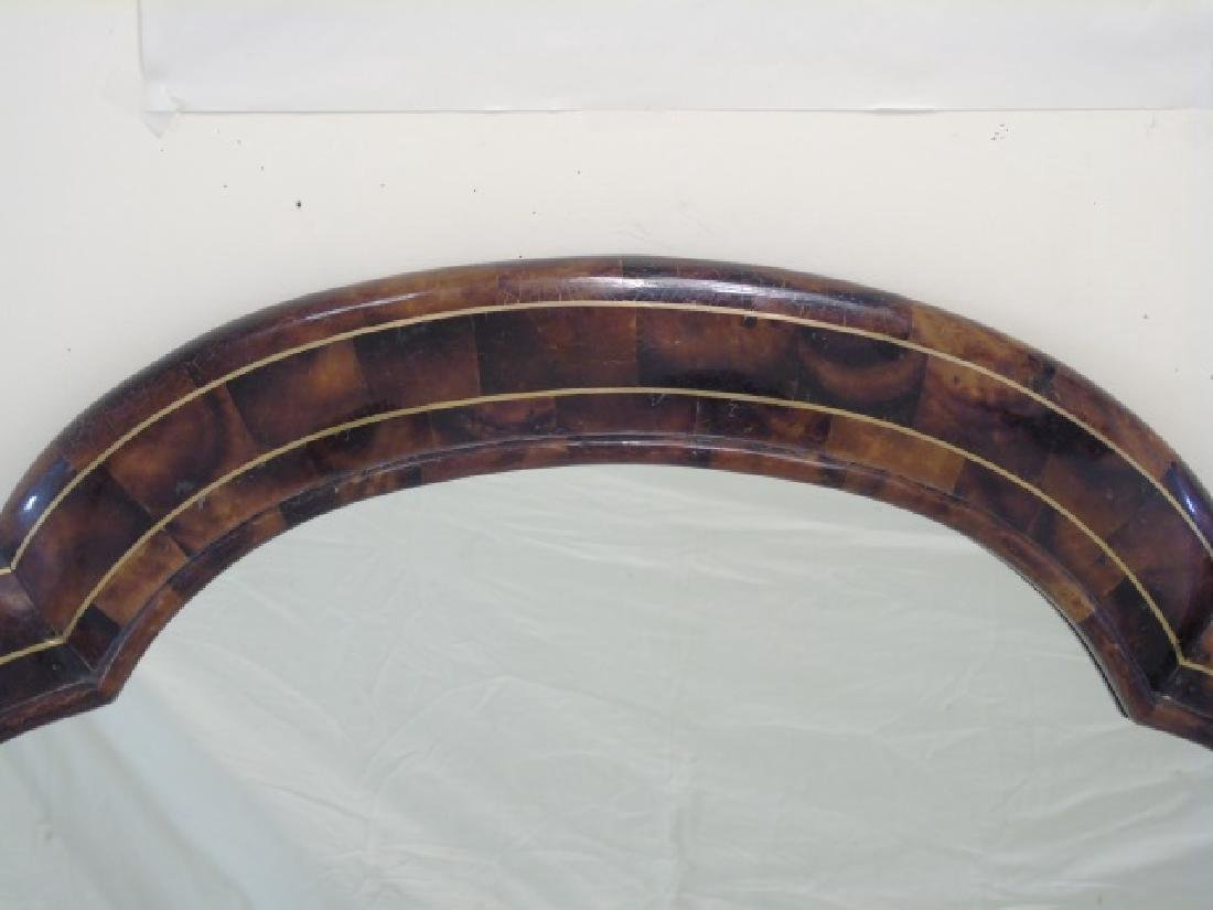 Contemporary Oval Mirror w Faux Wood Painted Frame - 4