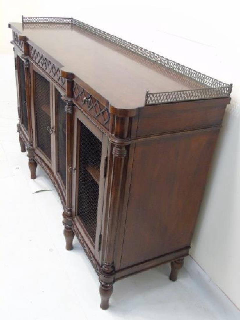 Contemporary Traditional Server w Metal Gallery - 3