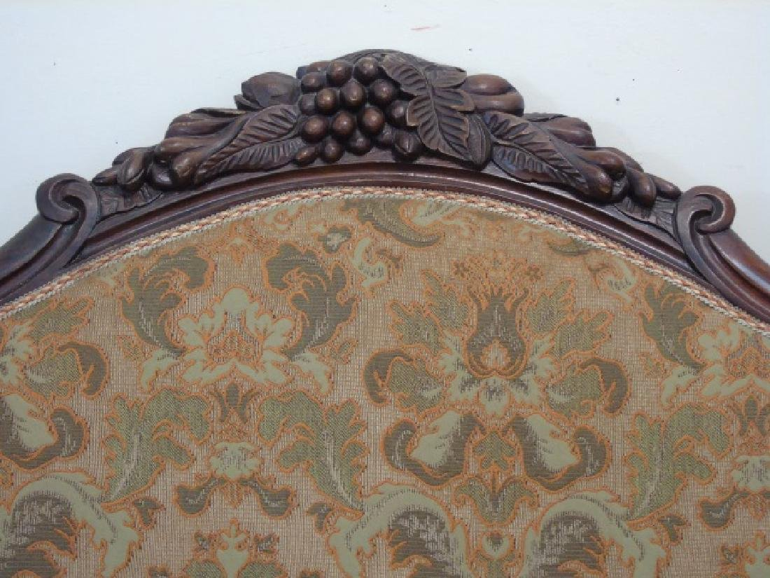 Antique American Victorian Carved Wood Settee - 2