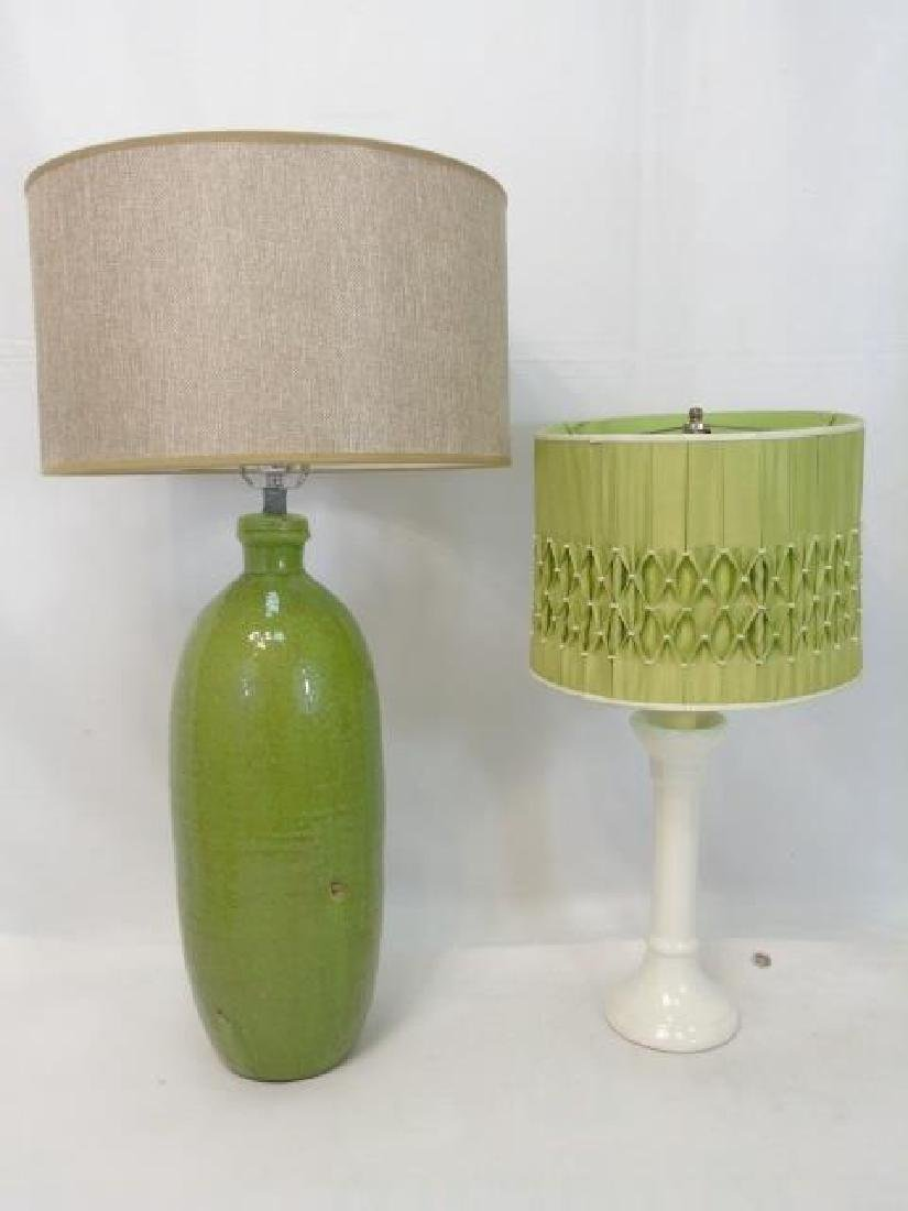 Two Contemporary Designer Table Lamps