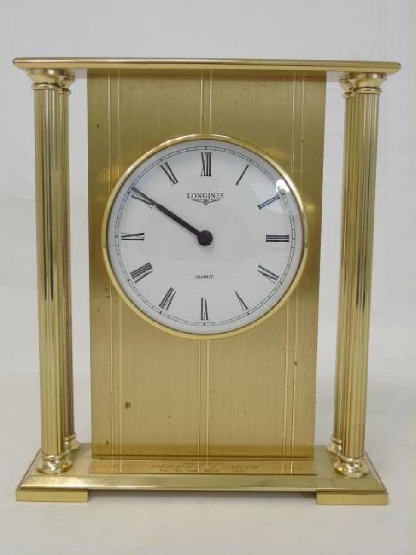 Vintage Longines Gold-Tone Table Quartz Clock