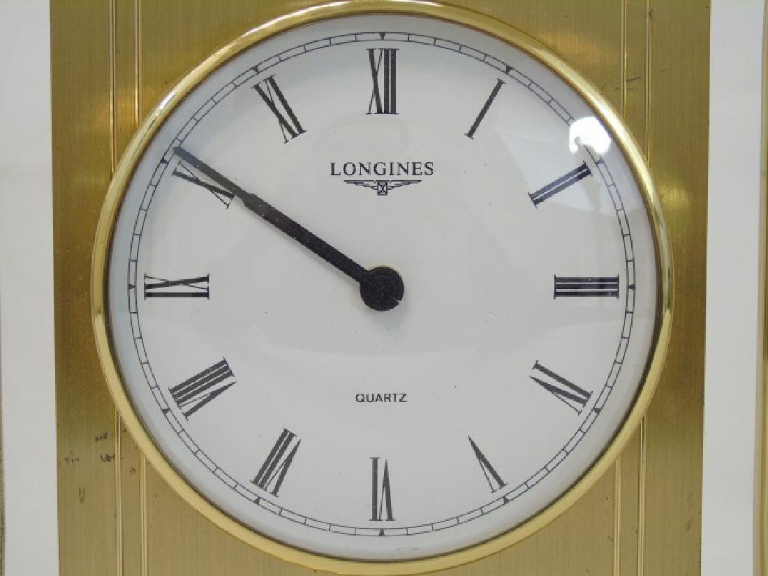 Vintage Longines Gold-Tone Table Quartz Clock - 3
