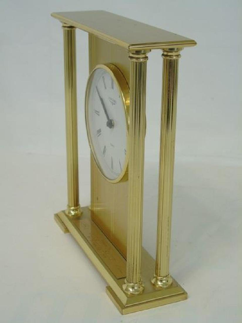 Vintage Longines Gold-Tone Table Quartz Clock - 5