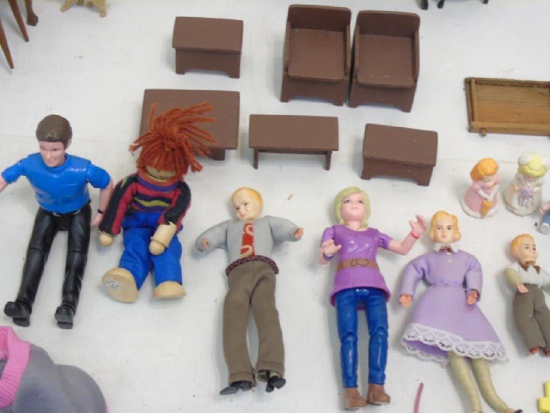 Detailed Shingle-Style Dollhouse & Doll Furniture - 10