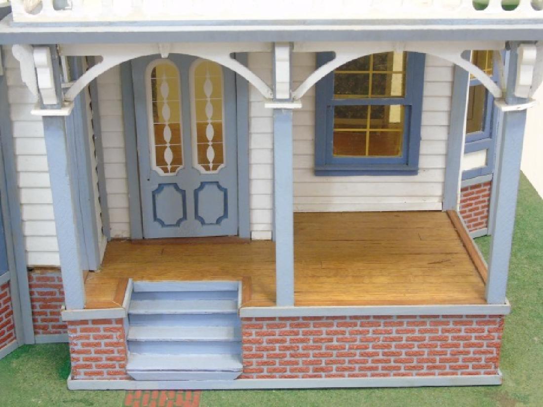 Detailed Shingle-Style Dollhouse & Doll Furniture - 3