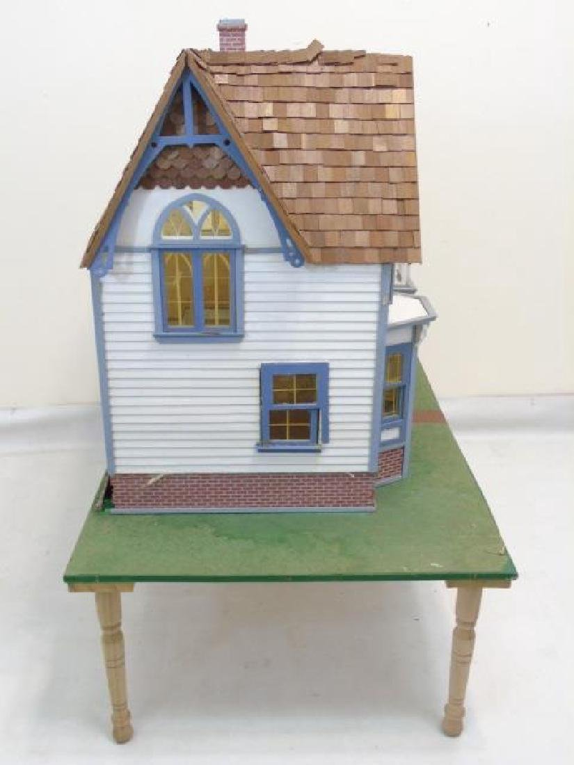 Detailed Shingle-Style Dollhouse & Doll Furniture - 4
