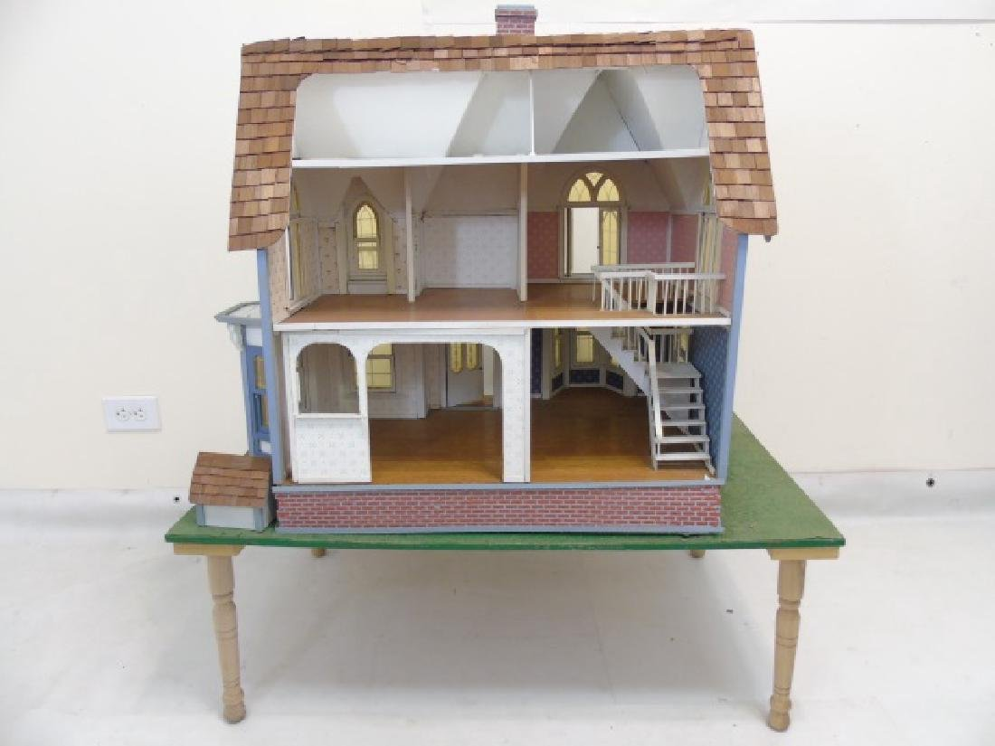 Detailed Shingle-Style Dollhouse & Doll Furniture - 5