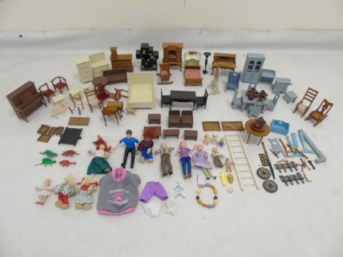 Detailed Shingle-Style Dollhouse & Doll Furniture - 6
