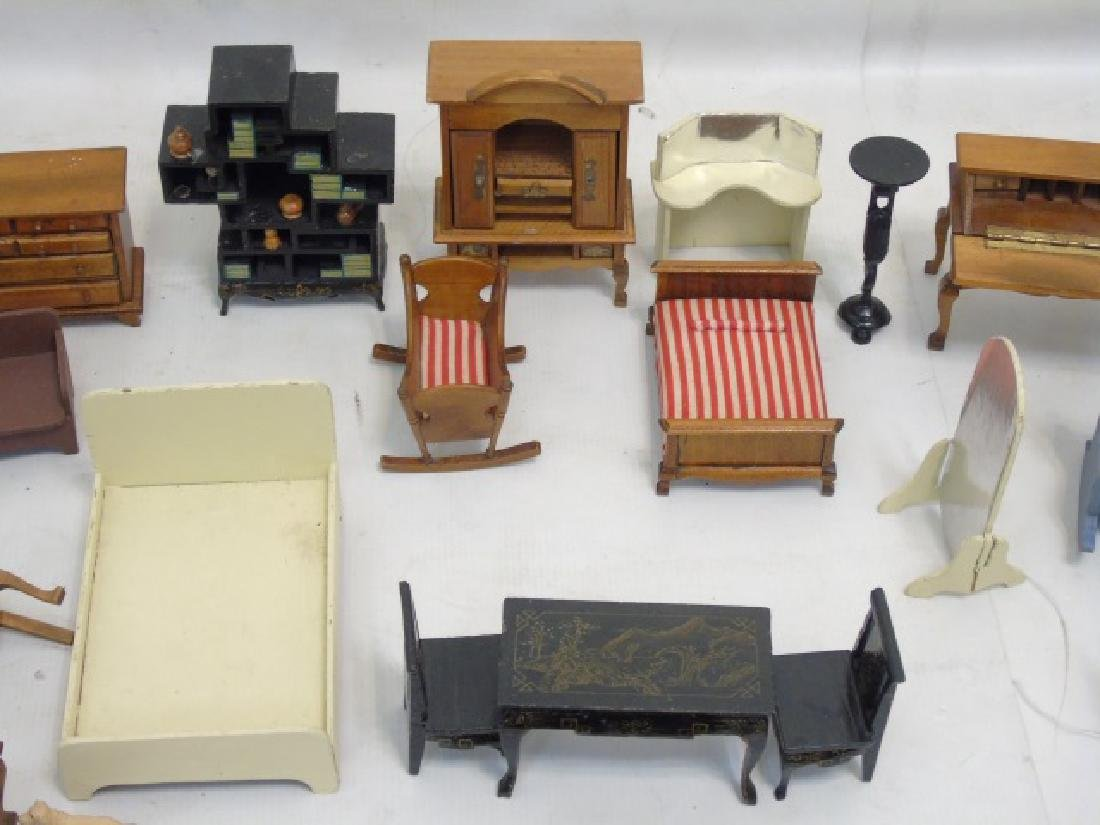 Detailed Shingle-Style Dollhouse & Doll Furniture - 7