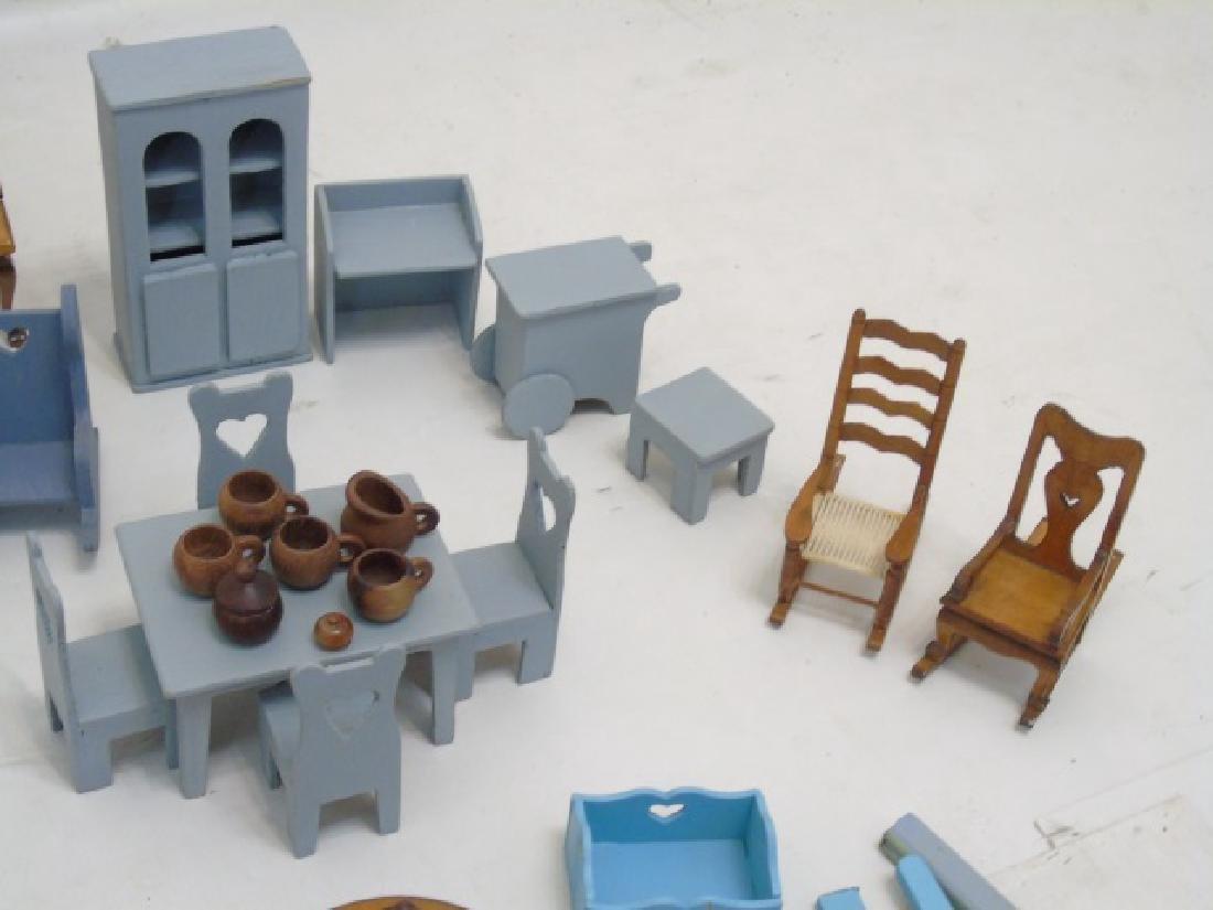 Detailed Shingle-Style Dollhouse & Doll Furniture - 9