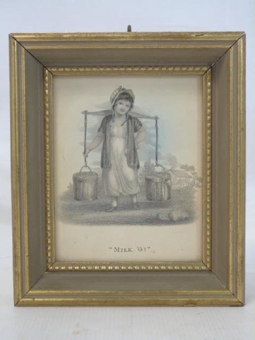 Set of 4 Antique Prints of Children Selling Wares - 3