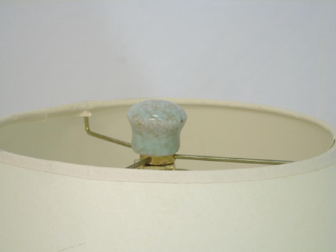 Large Chinese Celadon Urn Shaped Vase Lamp - 3