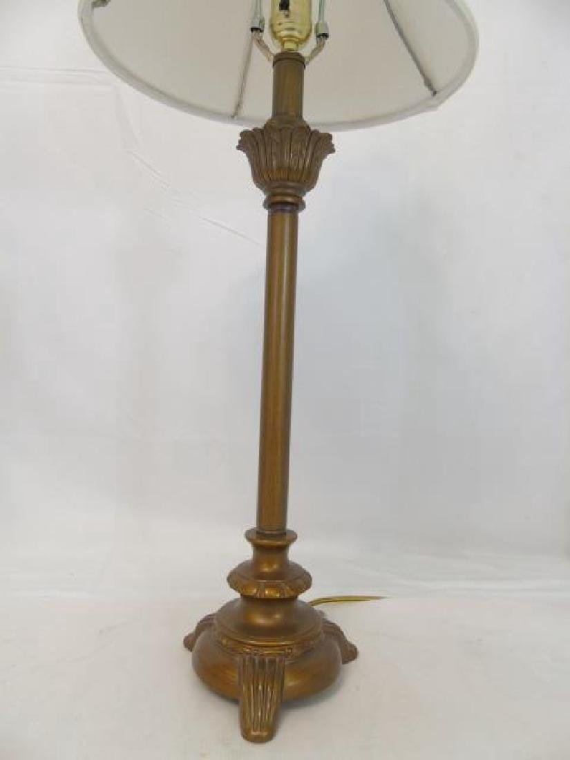 3 Table Lamps Bronze Tone and White Porcelain - 4
