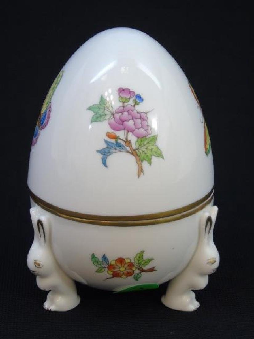 Herend of Hungary Porcelain Egg w Rabbit Feet