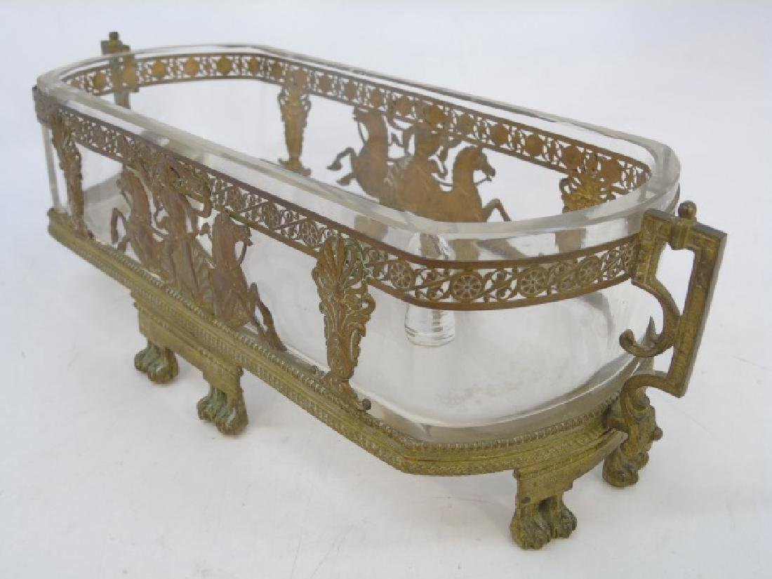 Antique Ormolu & Glass French Empire Centerpiece