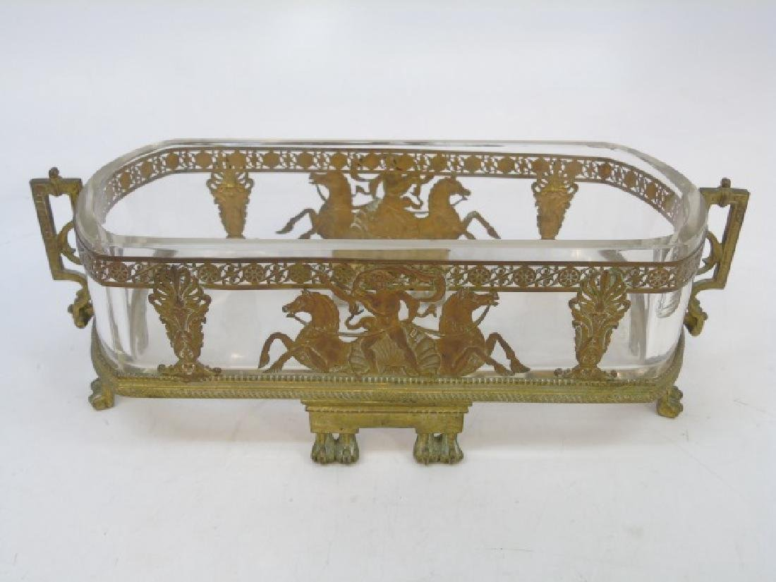 Antique Ormolu & Glass French Empire Centerpiece - 3