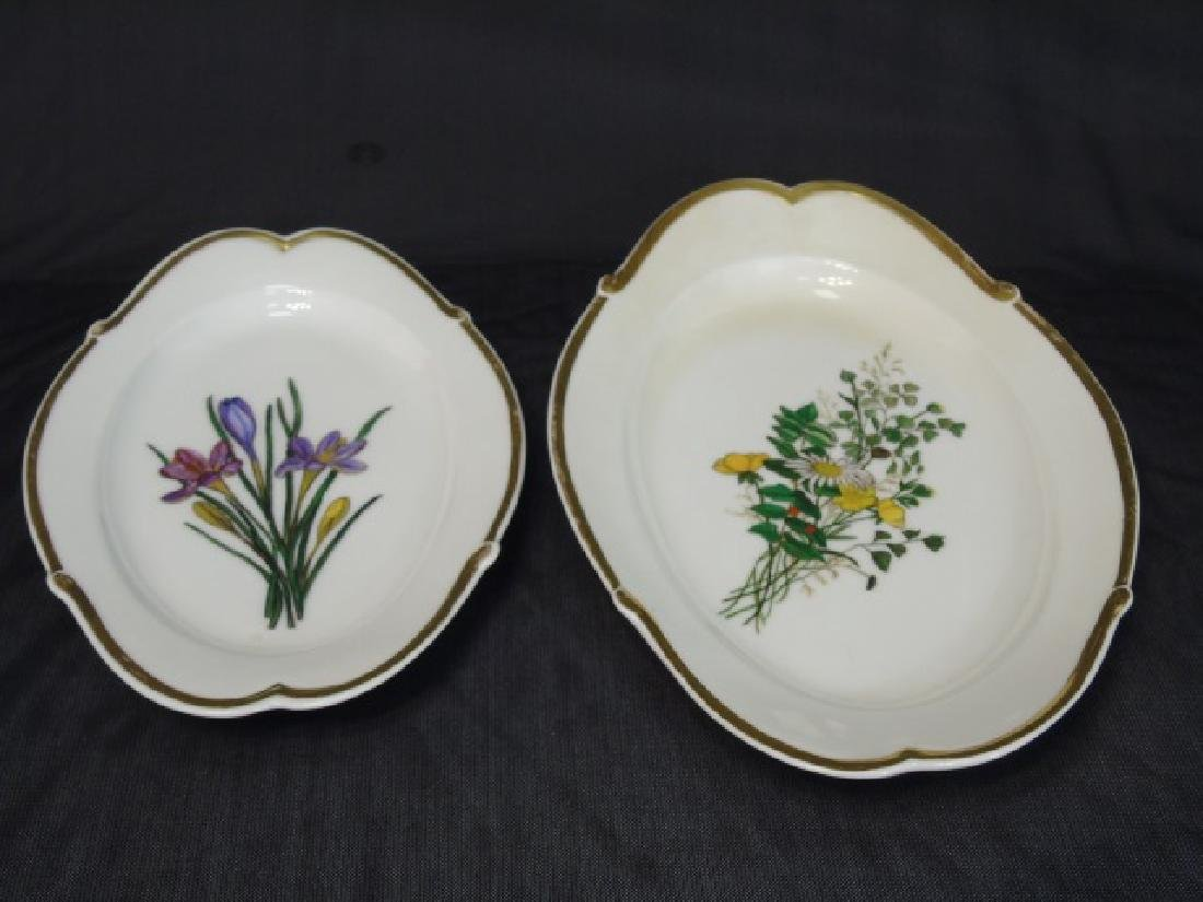 Two Hand Painted Antique H Co Limoges Platters