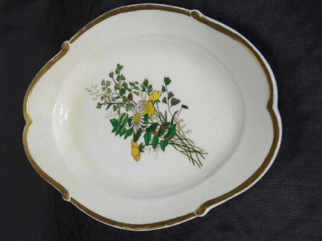 Two Hand Painted Antique H Co Limoges Platters - 3