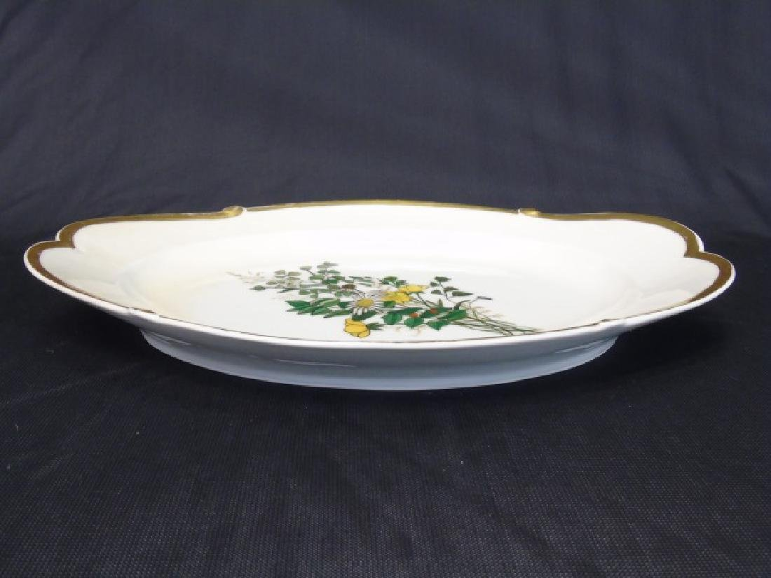 Two Hand Painted Antique H Co Limoges Platters - 4