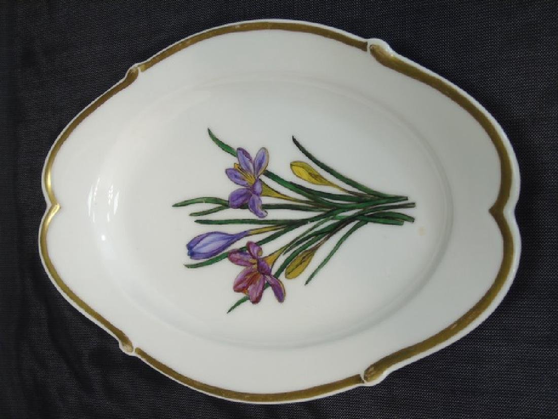 Two Hand Painted Antique H Co Limoges Platters - 5