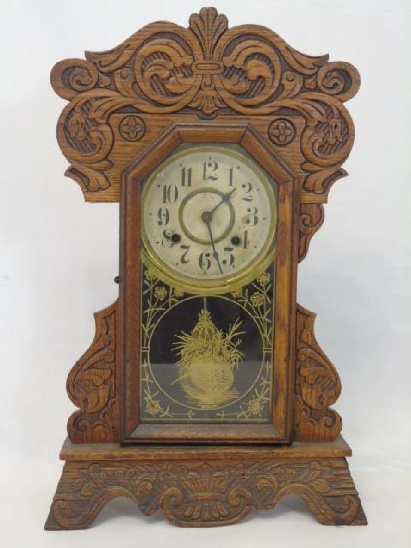 Antique American Gingerbread Victorian Clock