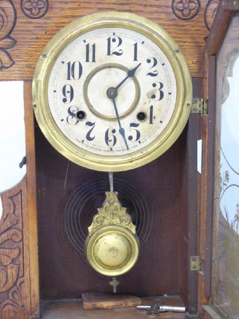Antique American Gingerbread Victorian Clock - 3