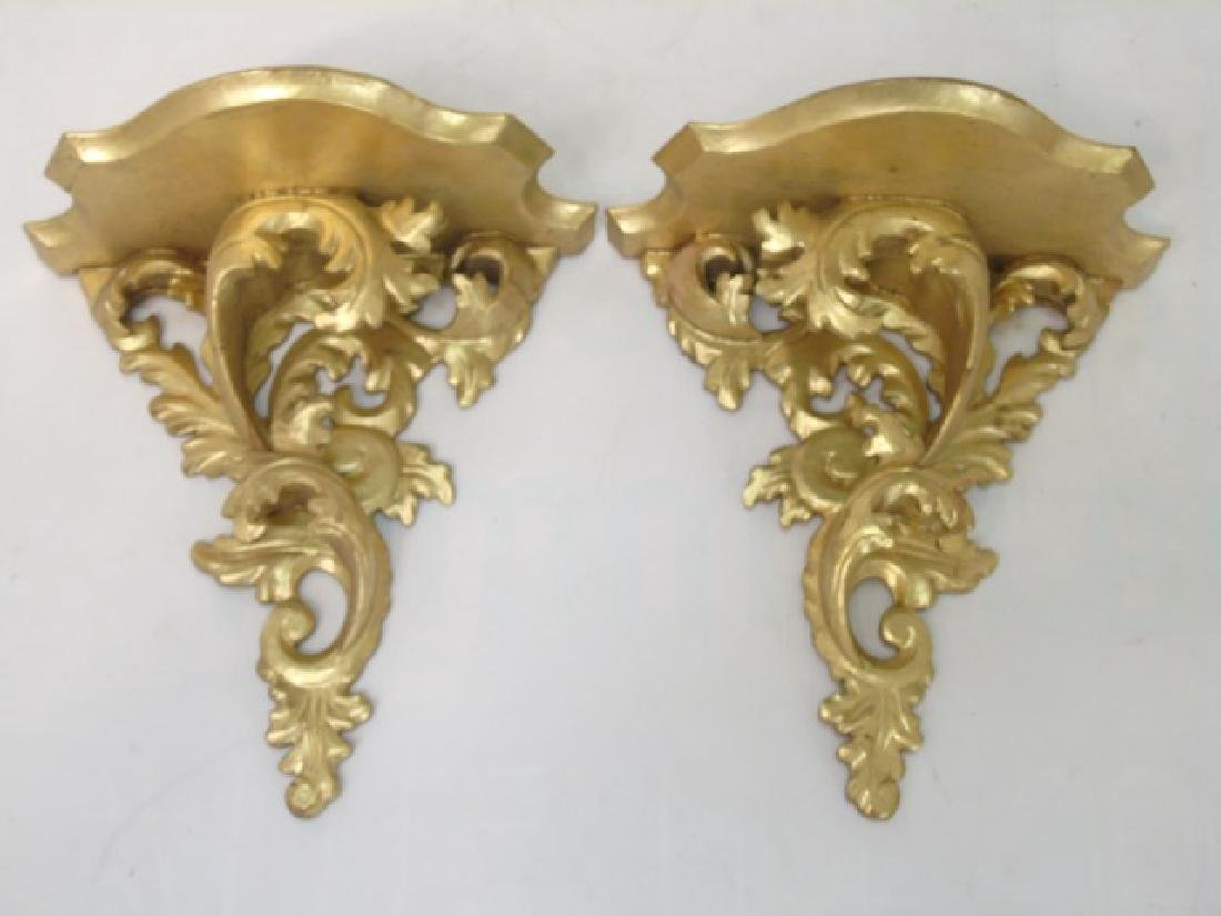 Collection Antique & Vintage Gold Wall Shelves - 2
