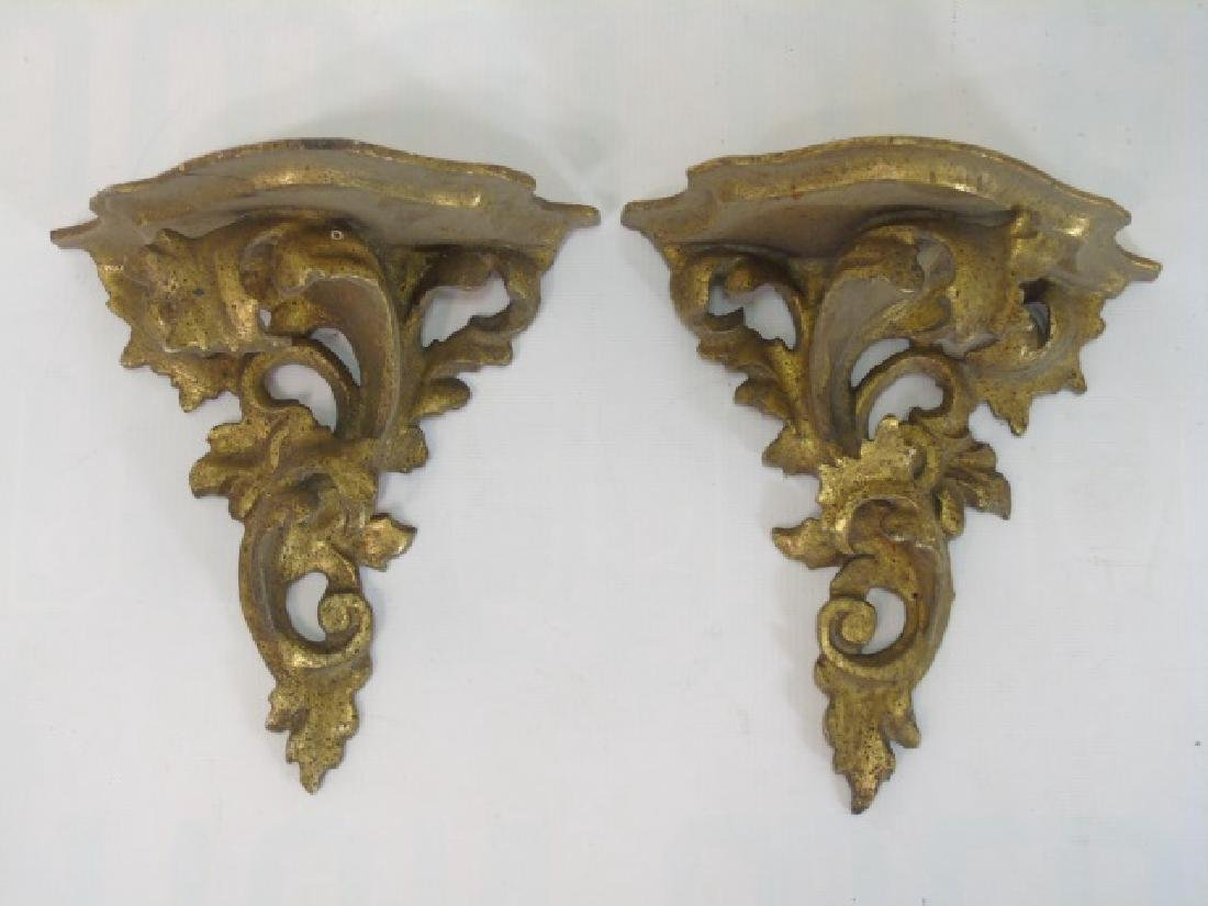 Collection Antique & Vintage Gold Wall Shelves - 4
