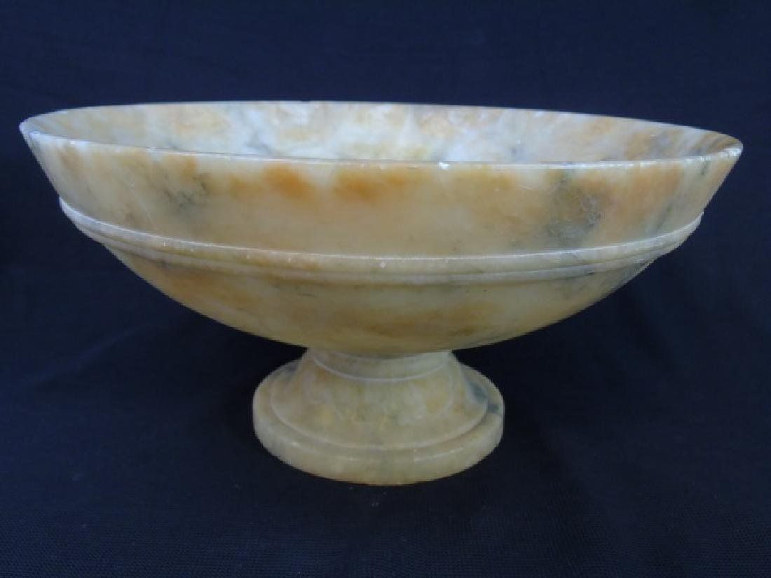 Antique Italian Carved Alabaster Compote / Tazza - 4