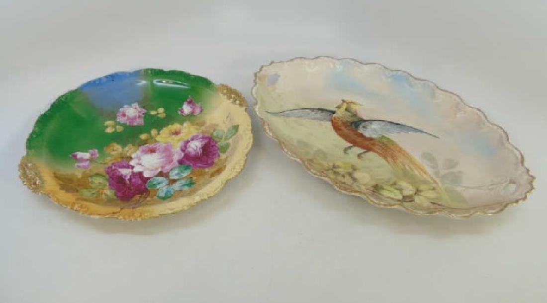 2 Limoges Antique Hand Painted Porcelain Platters