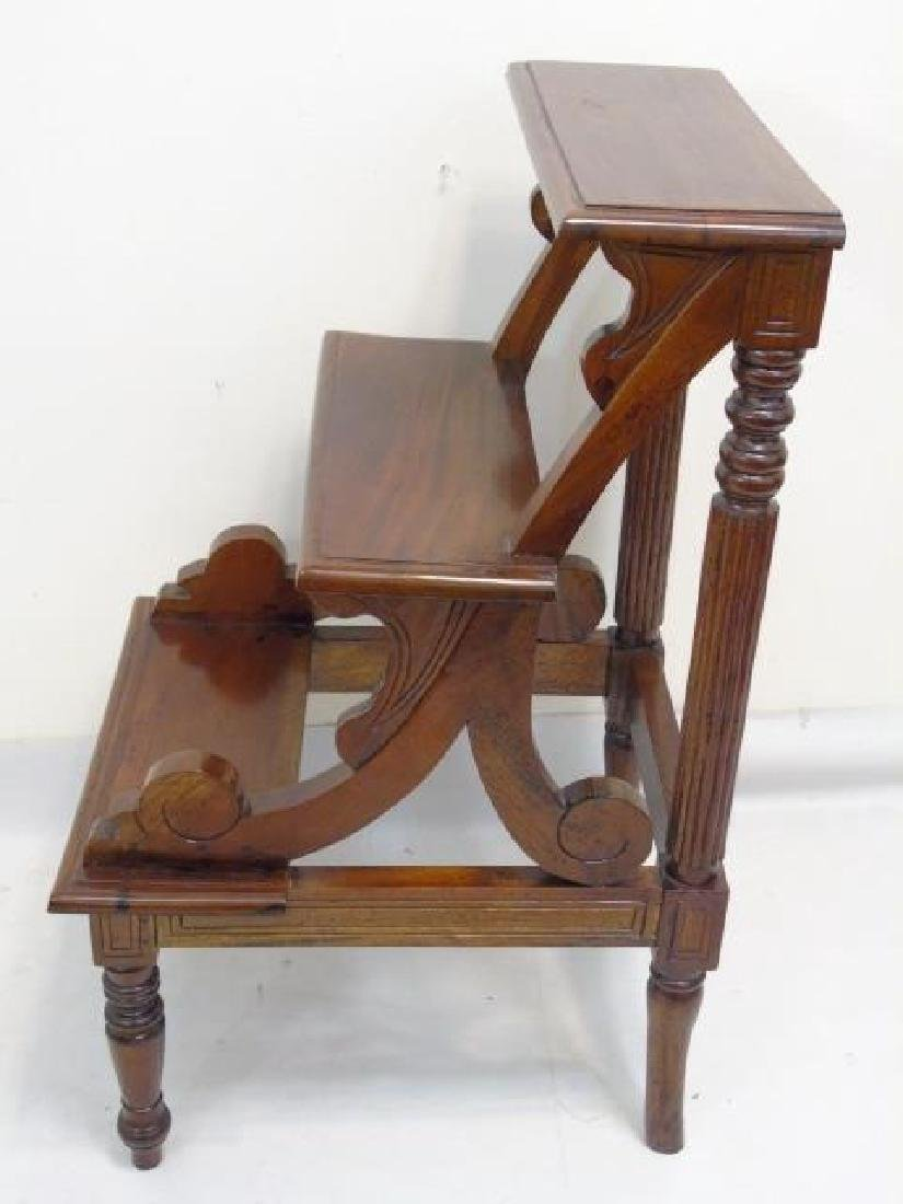 Antique English Library Step Stool / Ladder