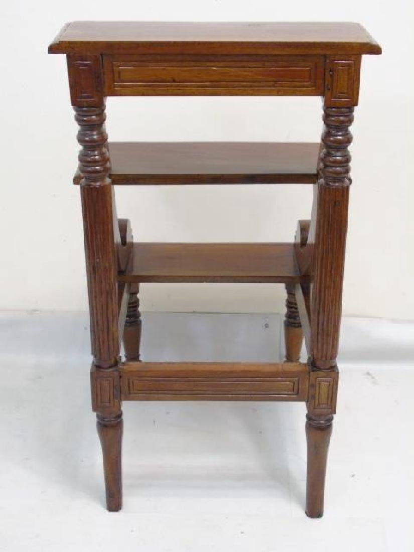 Antique English Library Step Stool / Ladder - 2