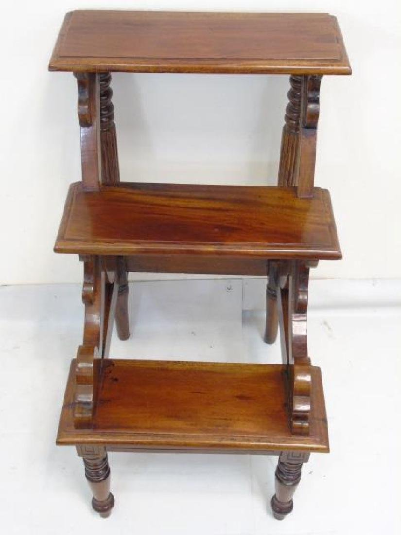 Antique English Library Step Stool / Ladder - 3