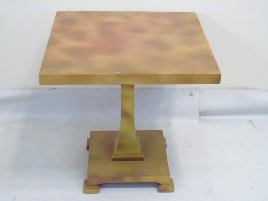 Antique Piano Bench, Pedestal Table & Bamboo Table - 2