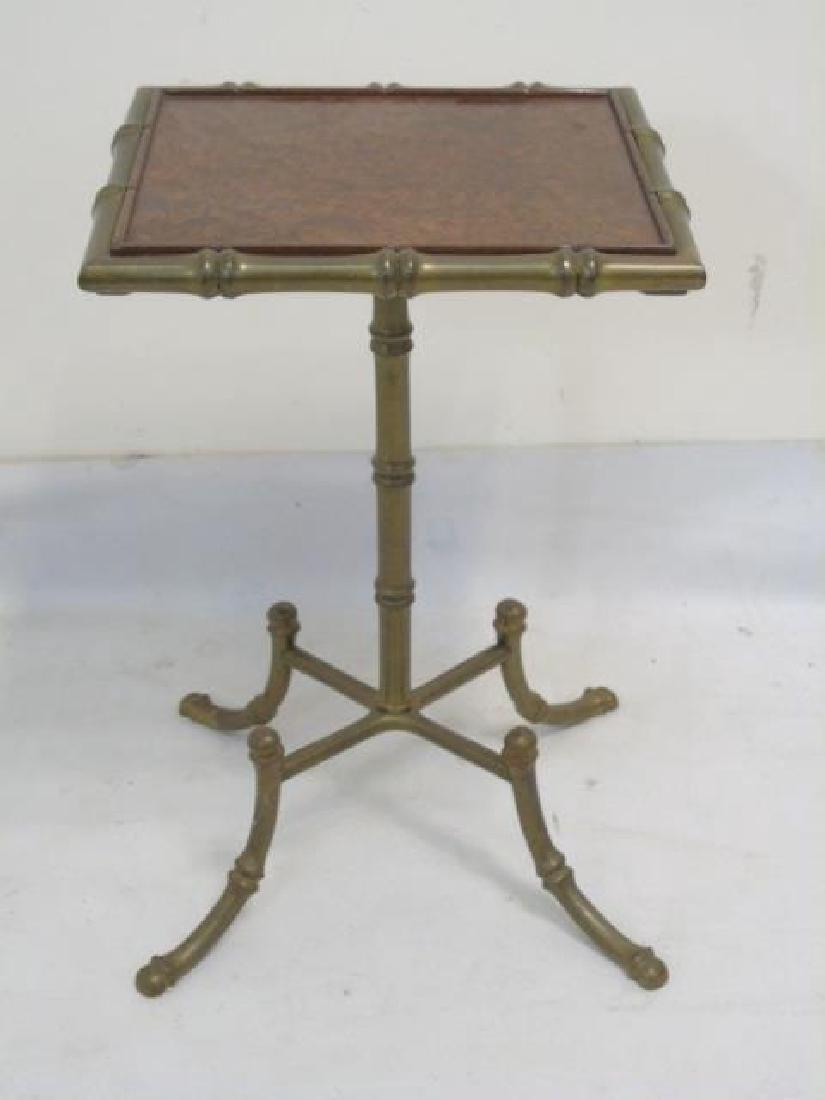 Antique Piano Bench, Pedestal Table & Bamboo Table - 4